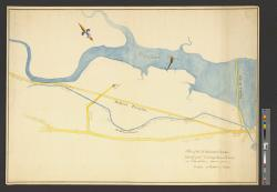 Plan of the Middlesex Canal, Medford Turnpike and river in Charlestown, drawn from a scale of 20 rods to an inch.