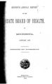 Seventh Annual Report of the State Board of Health of Minnesota, January 1879