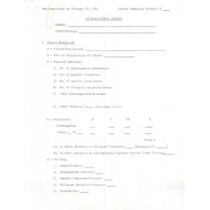 Proposed school program.