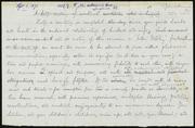 Rough draft of letter to] Dear Mr. Needles [manuscript