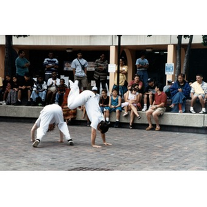 Capoeira performance in the plaza at Festival Betances.