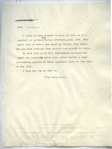 Circular letter from African Aid Committee to unidentified correspondent