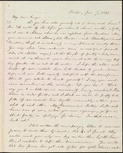 Letter from William Lloyd Garrison, Boston, [Mass.], to George William Benson, Jan. 7, 1841