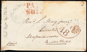 Letter from S. Alfred Steinthal, Bridgewater, [England], to Samuel May, Septebmer 29th, 1854