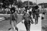 Demonstrators leaving Magnolia Park after a Black Panther rally to march down 20th Street in downtown Birmingham, Alabama.