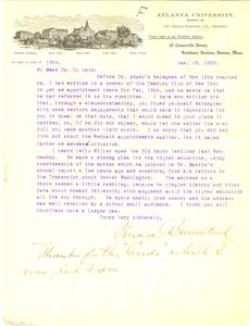 Letter from Atlanta University to W. E. B. Du Bois