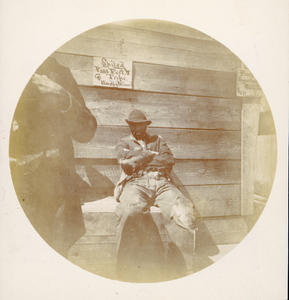 African-American Men in front of Wooden Building, Southwest United States, ca. 1893