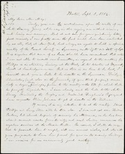 Letter to] My dear Mr. May [manuscript