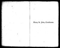 "Henry St. John, Gentleman, of ""Flower of Hundreds,"" in the County of Prince George, Virginia"