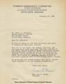 Letter to Dr. Erwin L. McDonald from Women's Emergency Committee
