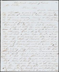 A. J. McElveen, Sumterville, S.C., autograph letter signed to Ziba B. Oakes, 9 August 1853