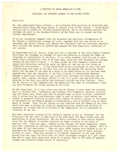 Petition by Negro Americans to the President and Attorney General of the United States