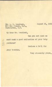 Letter from W. E. B. Du Bois to A. N. Scurlock