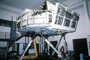 A B-52 aircraft flight simulator used for pilot and co-pilot training. This equipment is assigned to the 379th Avionics Maintenance Squadron