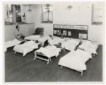Butler County Emergency School sleeping program photograph