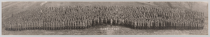 Framed panoramic photograph of Camp Grant officers