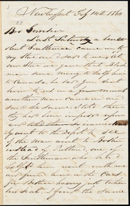 Letter from Richard Plumer, Newburyport, [Mass.], to William Lloyd Garrison, Feb[ruary] 14th 1860