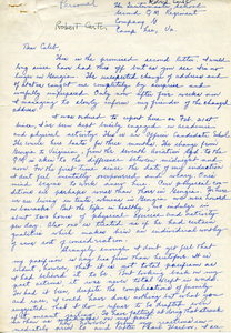 Letter from Robert L. Carter to Caleb Foote