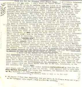 Letter from Anna Melissa Graves to unidentified correspondent