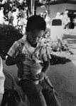 Young boy with refreshment