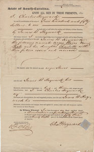 127. Bill of Sale for Slaves -- August 14, 1851