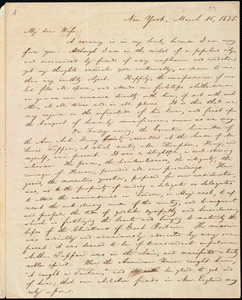 Letter from William Lloyd Garrison, New York, to Helen Eliza Garrison, March 16, 1835