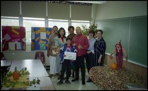 Adults and Young Boy in Gates Elementary Classroom During Fall Semester San Antonio Chapter of Links Records