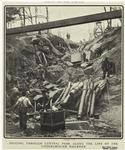 Digging through Central Park along the line of the underground railroad
