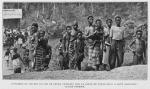 Ouvriers du chemin de fer et leurs familles sur la ligne de Porto-Novo a Savé (Dahomey)