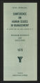 Conferences. Silver Bay Human Relations in Industry Conference. Conference Materials, 1957-1978. (Box 6, Folder 20)