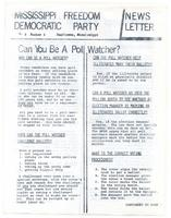 Mississippi Freedom Democratic Party newsletter (Vol. 2, No. 2)