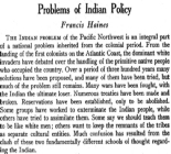 Problems of Indian Policy