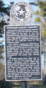 Texas Historical Commission Marker: Everheart-Canaan Cemetery