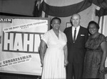 Hahn and supporters, Los Angeles, 1962