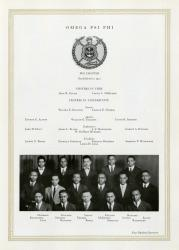 Omega Psi Phi page from 1923 Michiganensian