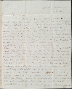 Letter from Emma Forbes Weston to Anne Warren Weston, Monday morning, Oct. 31, [1842?]
