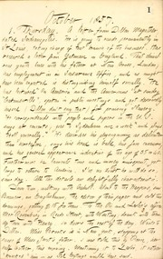 Thomas Butler Gunn Diaries: Volume 9, page 7, October 1, 1857