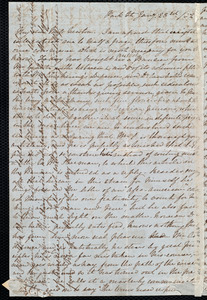 Letter from Emma Michell, Park St., [Bristol, England], to Caroline Weston, Jan'y 23rd / [18]52