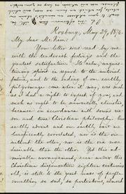 Letter to] My dear McKim [sic] [manuscript