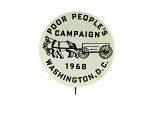 Button, Poor People's Campaign, 1968