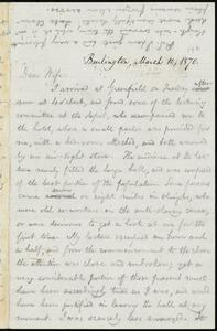 Letter from William Lloyd Garrison, Burlington, [Vt.], to Helen Eliza Garrison, March 10, 1870