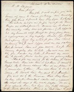 Letter from Edward Morris Davis, Philad[elphia], [Penn.], to Maria Weston Chapman, 11 mo[nth] 21st [day] 1845