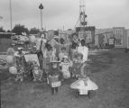 Ronald McDonald with children in costumes at the 1985 South Alabama Fair in Montgomery, Alabama.