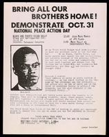Thumbnail for Handbill. National Peace Action Day