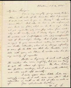 Letter from William Lloyd Garrison, Boston, [Mass.], to George William Benson, Oct. 2, 1835
