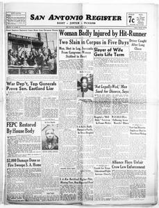 San Antonio Register (San Antonio, Tex.), Vol. 15, No. 24, Ed. 1 Friday, July 13, 1945 San Antonio Register