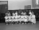 Group photograph of women in white uniforms