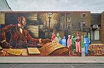 Mural, created by Willis Humphrey in 2008, depicting W.E.B. Du Bois in Philadelphia, Pennsylvania