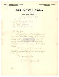 Letter from Herb O. Eagan to W. E. B. Du Bois