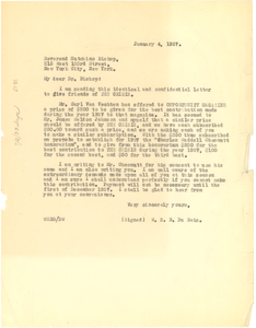 Thumbnail for Letter from W. E. B. Du Bois to Hutchins Bishop